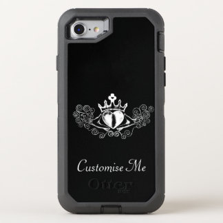 Le Claddagh (blanc) Coque Otterbox Defender Pour iPhone 7