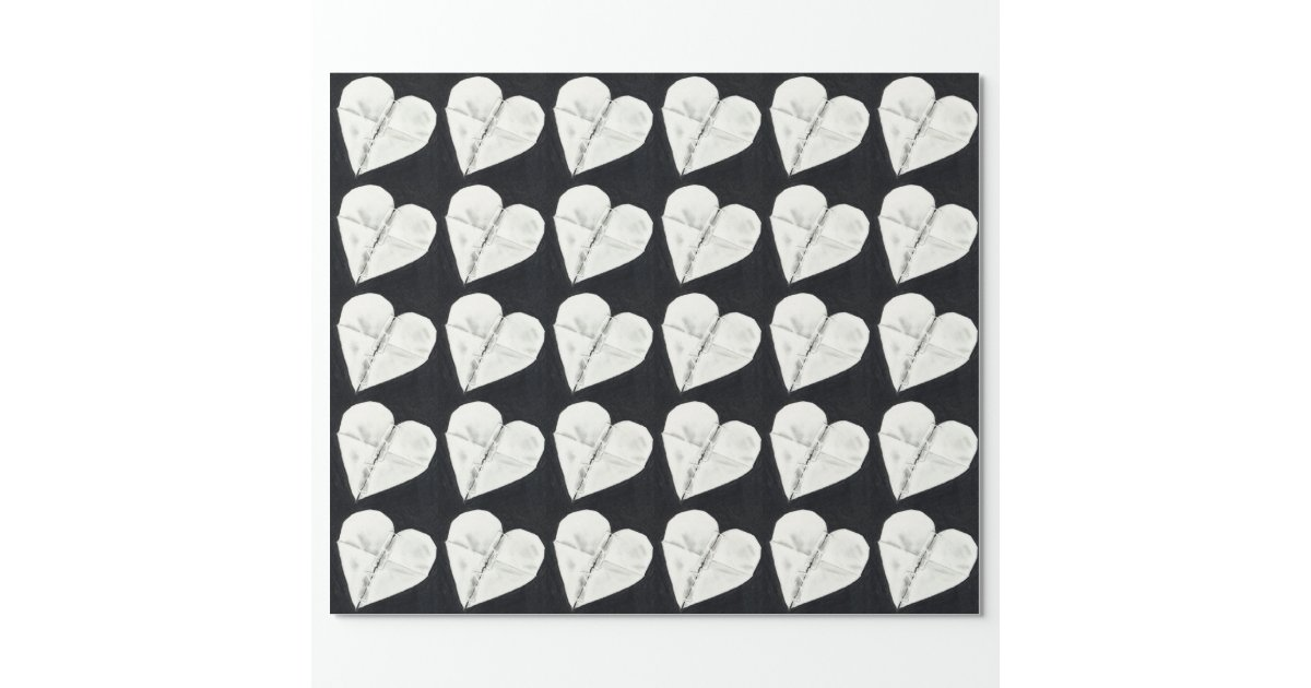 le coeur bris r par dessin au crayon original papier cadeau no l zazzle. Black Bedroom Furniture Sets. Home Design Ideas