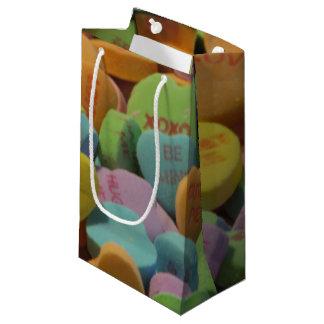 Le coeur de sucrerie soit le mien je t'aime modèle petit sac cadeau