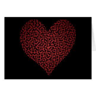 Le coeur est une carte vierge de labyrinthe
