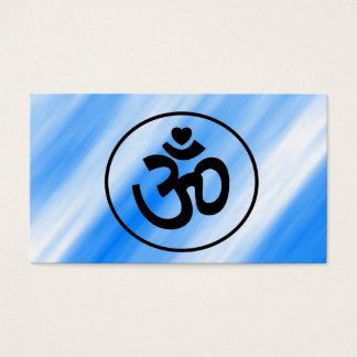 Le coeur OM signent - des cartes de visite de yoga Carte De Visite Standard