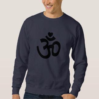 Le coeur OM signent - le sweatshirt de yoga pour