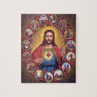 Le coeur sacré de Jésus Puzzles