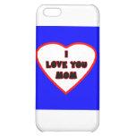 Le coeur Transp bleu a rempli cadeaux de Zazzle de Coque iPhone 5C
