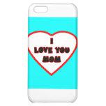 Le coeur Transp cyan a rempli cadeaux de Zazzle de Coques iPhone 5C