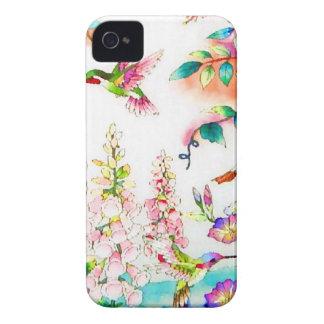Le colibri fleurit le paysage étuis iPhone 4