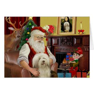 Le colley barbu de Père Noël (#16) Carte De Vœux