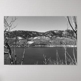 Le Colorado noir et blanc Poster
