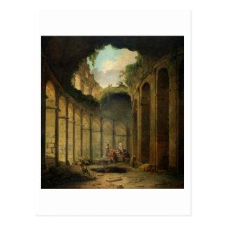 Le Colosseum, Rome (huile sur la toile) Carte Postale