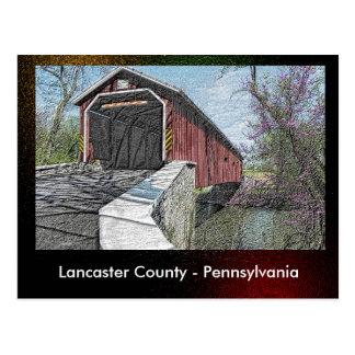 Le comté de Lancaster - la Pennsylvanie - carte