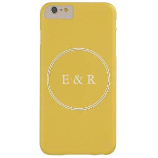 Le concepteur 2017 du printemps colore le jaune de coque barely there iPhone 6 plus