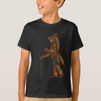 le concepteur de chaman de loup badine le T-shirt