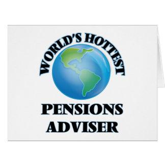 Le conseiller des pensions le plus chaud du monde cartes de vœux