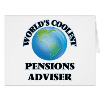 Le conseiller des pensions le plus frais du monde cartes de vœux