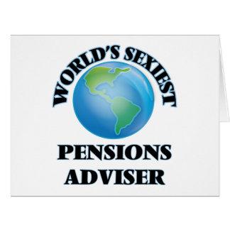 Le conseiller des pensions le plus sexy du monde cartes de vœux