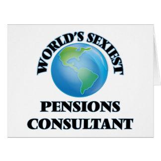Le consultant en matière le plus sexy des pensions cartes de vœux