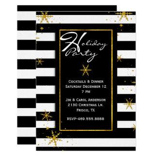 Le contemporain barre l'invitation de fête de carton d'invitation  12,7 cm x 17,78 cm