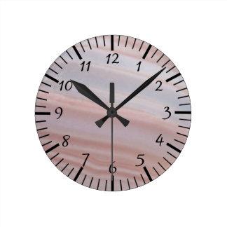 Le cool barre la pierre impressionnante d'agate du horloge ronde