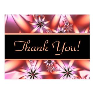Le corail fleurit Merci de fractale Carte Postale