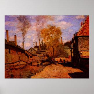 Le courant de Robec, Rouen, 1872