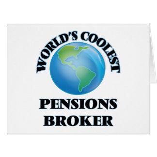 Le courtier des pensions le plus frais du monde cartes de vœux