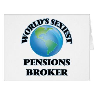 Le courtier des pensions le plus sexy du monde carte de vœux