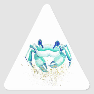 Le crabe de Neptune Sticker Triangulaire