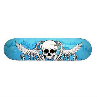 Le crâne bleu s'envole le conseil plateaux de skateboards customisés