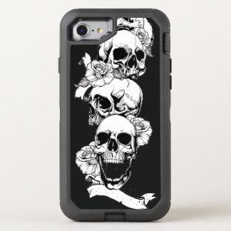 le crâne dirige l'art vintage coque otterbox defender pour iPhone 7