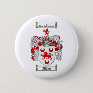 LE CREST DE FAMILLE DE DILLON - MANTEAU DE DILLON BADGE ROND 5 CM