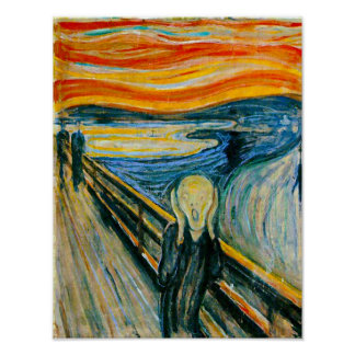 Le cri perçant par Edvard Munch