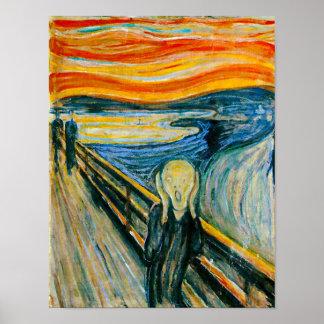 Le cri perçant par Edvard Munch Poster