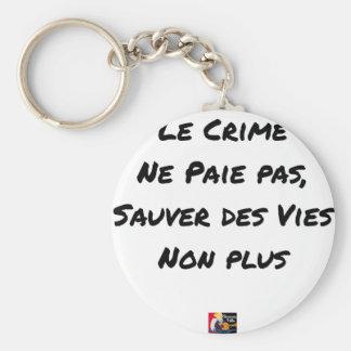 Le Crime Ne Paie pas Sauver des Vies Non plus Porte-clés