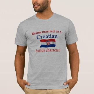 Le Croate établit le caractère T-shirt