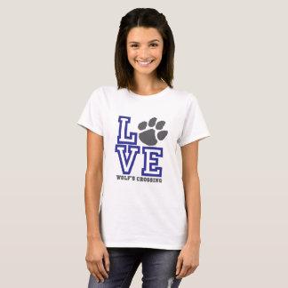 Le croisement du loup d'AMOUR T-shirt