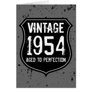 Le cru 1954 a vieilli aux hommes de carte de voeux