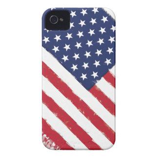 Le cru de drapeau américain éclabousse coque Case-Mate iPhone 4