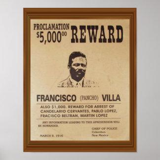 Le cru de Pancho Villa a voulu la récompense Poster