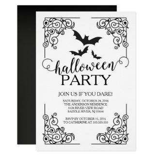 Le cru manie la batte l'invitation de partie de carton d'invitation  12,7 cm x 17,78 cm