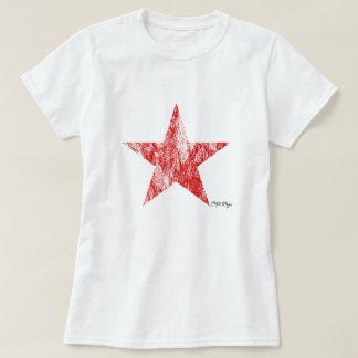 Le cru rouge d'étoile de coureur de café a dénommé t-shirt