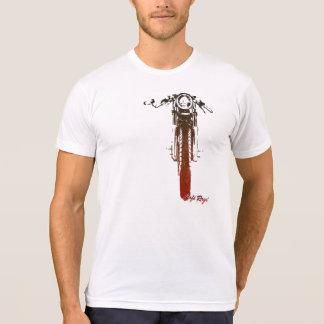 Le cru rouge frontal de coureur de café a dénommé t-shirt