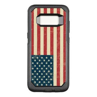 Le cru s'est fané le drapeau américain Etats-Unis Coque Samsung Galaxy S8 Par OtterBox Commuter