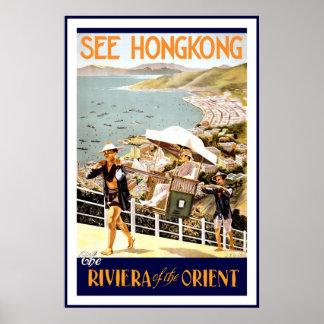 Le cru voient l'affiche de voyage de Hong Kong Poster