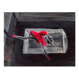 Le cygne rouge carte postale