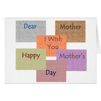 Le DA de la mère la plus heureuse Carte De Vœux