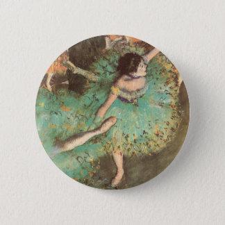 Le danseur vert par Edgar Degas, ballet vintage Badge Rond 5 Cm