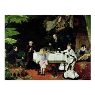 Le déjeuner dans le conservatoire, 1877 carte postale