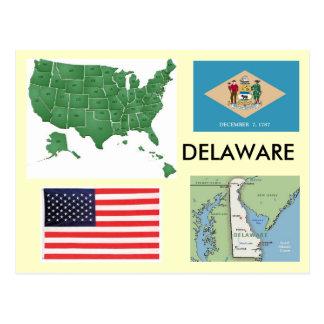 Le Delaware, Etats-Unis Carte Postale