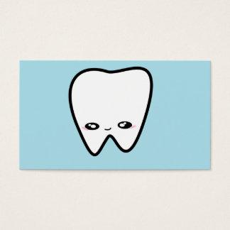 Le dentiste de dent de Kawaii badine l'hygiéniste Carte De Visite Standard