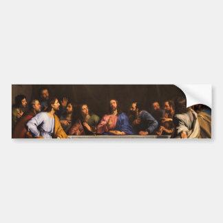Le dernier dîner par Philippe de Champaigne (1648) Autocollant De Voiture